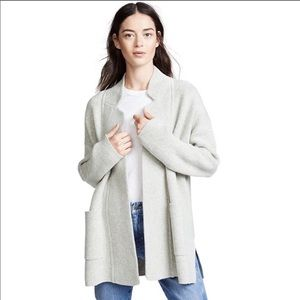 Madewell Spencer Sweater Coat in Heather Charcoal